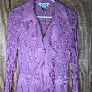 blouses for women allison taylor size med-pink
